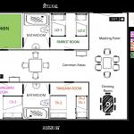 Rooms map in Finca Suasie B&L.